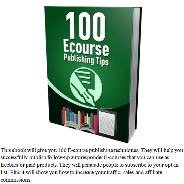 100-Ecourse-Publishing-Tips